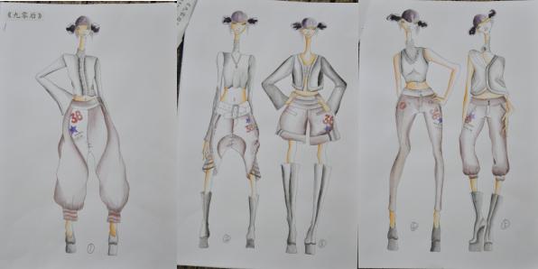 嘻哈服装设计手绘图